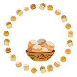Πιάτο με τα donuts Στοκ Εικόνα