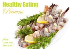Πιάτο με τις γαρίδες τιγρών Στοκ φωτογραφία με δικαίωμα ελεύθερης χρήσης