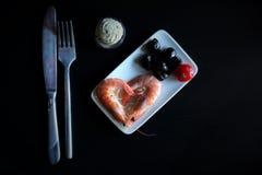 Πιάτο με τις γαρίδες σε το Στοκ φωτογραφία με δικαίωμα ελεύθερης χρήσης