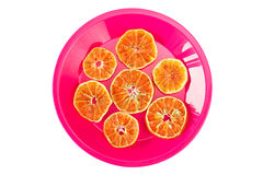 Πιάτο με τις ξηρές πορτοκαλιές φέτες Στοκ Φωτογραφία