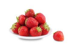 Πιάτο με τις φράουλες. Στοκ Φωτογραφίες