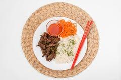 Πιάτο με το αρνί Στοκ εικόνες με δικαίωμα ελεύθερης χρήσης