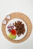 Πιάτο με το αρνί Στοκ Εικόνα