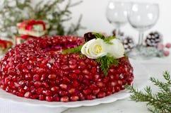 Πιάτο με το βραχιόλι γρανατών σαλάτας Στοκ φωτογραφία με δικαίωμα ελεύθερης χρήσης