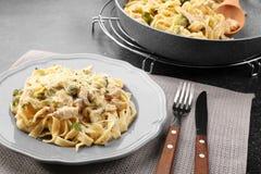 Πιάτο με το εύγευστο κοτόπουλο Alfredo στοκ φωτογραφίες με δικαίωμα ελεύθερης χρήσης