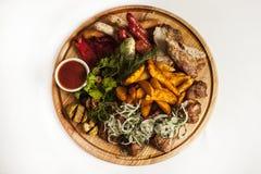 Πιάτο με το κρέας για την μπύρα Στοκ Εικόνα