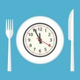 Πιάτο με το ρολόι Στοκ Φωτογραφίες