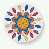 Πιάτο με το φυλετικό mandala διακοσμήσεων κομψότητας επίσης corel σύρετε το διάνυσμα απεικόνισης Στοκ Φωτογραφία