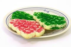 πιάτο μπισκότων Χριστουγέννων Στοκ εικόνα με δικαίωμα ελεύθερης χρήσης