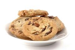 πιάτο μπισκότων στοκ φωτογραφία