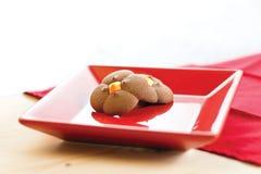 Πιάτο μπισκότων Στοκ Εικόνα