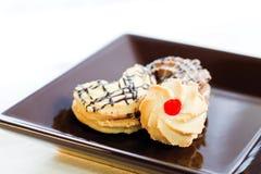 Πιάτο μπισκότων Στοκ Φωτογραφίες
