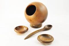 πιάτο ξύλινο Στοκ Εικόνες