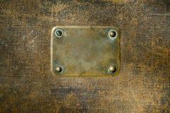 πιάτο ονόματος χαλκού σκουριασμένο Στοκ φωτογραφίες με δικαίωμα ελεύθερης χρήσης