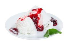 πιάτο πάγου κρέμας Στοκ Εικόνα