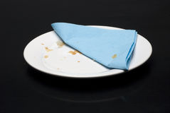 πιάτο πετσετών Στοκ εικόνες με δικαίωμα ελεύθερης χρήσης