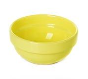Πιάτο πιάτων κίτρινο Στοκ φωτογραφία με δικαίωμα ελεύθερης χρήσης