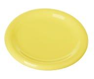 Πιάτο πιάτων κίτρινο Στοκ εικόνα με δικαίωμα ελεύθερης χρήσης