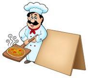 πιάτο πιτσών αρχιμαγείρων χ&al απεικόνιση αποθεμάτων