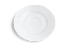 Πιάτο που απομονώνεται κενό Στοκ φωτογραφίες με δικαίωμα ελεύθερης χρήσης