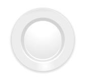 Πιάτο που απομονώνεται στο λευκό διανυσματική απεικόνιση