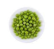 πιάτο πράσινων μπιζελιών Στοκ φωτογραφίες με δικαίωμα ελεύθερης χρήσης