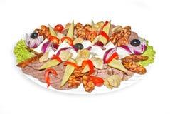Πιάτο πρόχειρων φαγητών Στοκ φωτογραφία με δικαίωμα ελεύθερης χρήσης