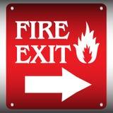 πιάτο πυρκαγιάς εξόδων ελεύθερη απεικόνιση δικαιώματος