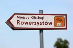 Πιάτο σημαδιών της πράσινης διαδρομής ποδηλάτων Velo στην Πολωνία στοκ φωτογραφίες με δικαίωμα ελεύθερης χρήσης