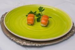 Πιάτο σουσιών στοκ εικόνες