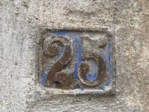 Πιάτο 25 σπιτιών Στοκ εικόνες με δικαίωμα ελεύθερης χρήσης