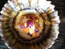 Πιάτο σπρωξίματος ακατέργαστων ψαριών Στοκ Εικόνα