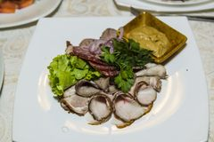 Πιάτο στο εστιατόριο Στοκ φωτογραφία με δικαίωμα ελεύθερης χρήσης