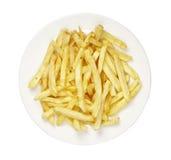 πιάτο τηγανιτών πατατών τροφί στοκ εικόνα