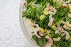 Πιάτο της σαλάτας γαρίδων Στοκ φωτογραφία με δικαίωμα ελεύθερης χρήσης