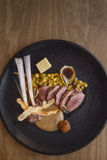Πιάτο του αρνιού με τα λαχανικά στοκ εικόνες με δικαίωμα ελεύθερης χρήσης