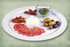 Πιάτο του εστιατορίου Στοκ Εικόνες