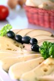 πιάτο τυριών Στοκ Εικόνα