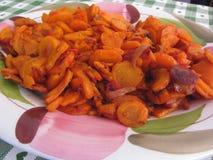 Πιάτο των ανακατώνω-τηγανισμένων καρότων Στοκ εικόνες με δικαίωμα ελεύθερης χρήσης