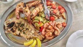 Πιάτο των θαλασσινών Στοκ Εικόνες