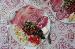 Πιάτο των ιταλικών τροφίμων στοκ εικόνες