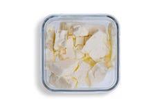 Πιάτο των μικρών μερίδων του πλήρους τυριού φέτας κρέμας Στοκ Εικόνες