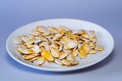 Πιάτο των σπόρων κολοκύθας Στοκ Εικόνες