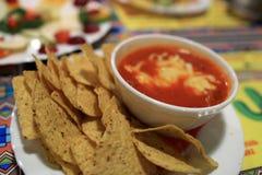 Πιάτο των nachos τσίλι Στοκ εικόνα με δικαίωμα ελεύθερης χρήσης