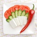 πιάτο φέτα τυριών στοκ εικόνες με δικαίωμα ελεύθερης χρήσης