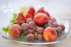 Πιάτο φρούτων Στοκ εικόνα με δικαίωμα ελεύθερης χρήσης