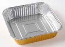 Πιάτο φύλλων αλουμινίου τροφίμων Στοκ Φωτογραφίες