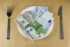 πιάτο χρημάτων Στοκ φωτογραφίες με δικαίωμα ελεύθερης χρήσης