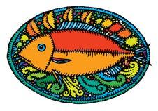 πιάτο ψαριών που εξυπηρετ&e Στοκ Φωτογραφίες