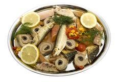 πιάτο ψαριών που καπνίζετα&i Στοκ Εικόνες